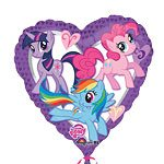 My Little Pony Party Heart Shaped Foil Balloon - 18""