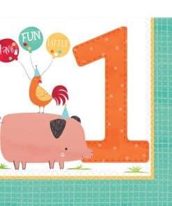 1st Barnyard Birthday Napkins