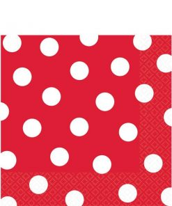 Red Polka Dot Party Paper Napkins
