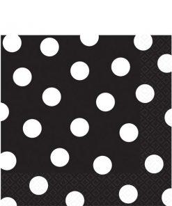 Black Polka Dot Party Paper Napkins
