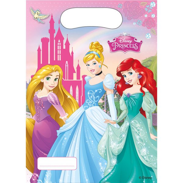 Disney Princess Party Plastic Loot Bags