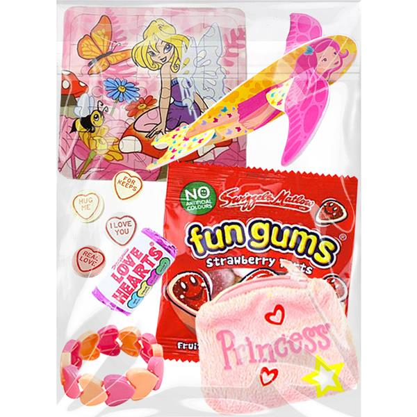 Girls Pink Themed Pre-Filled Party Bag