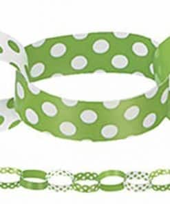 Green Polka Dot Party Paper Chain