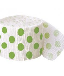Green Polka Dot Decorating Roll