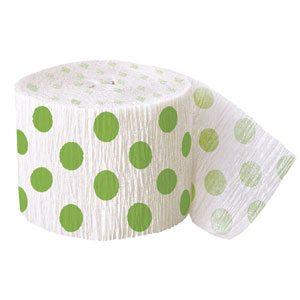 Green Polka Dot Decorating Roll