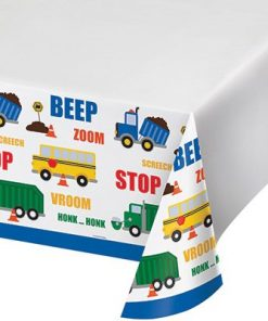 On The Go Traffic Jam Party Plastic Tablecover