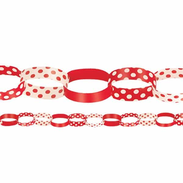 Red Polka Dot Paper Chain