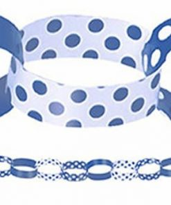 Blue Polka Dot Paper Chain