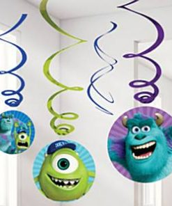 Monsters University Party Hanging Swirls Decorations
