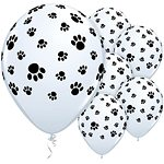 Paw Print Printed Latex Balloons
