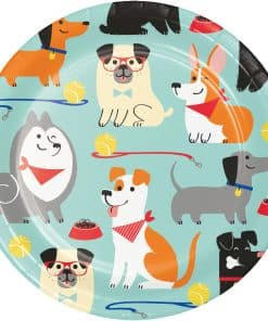 Dog Party Paper Plates