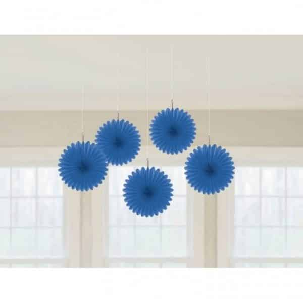 Royal Blue Hanging Fan Decorations