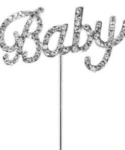 'Baby' Diamante Cake Pick