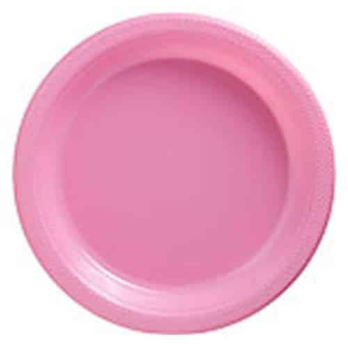 Baby Pink Party Plastic Plates