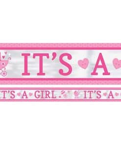 Baby Shower 'It's a Girl' Foil Banner