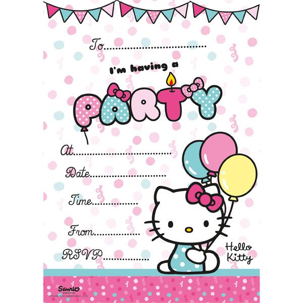 Buy Hello Kitty Party Invites From Fun Party Supplies