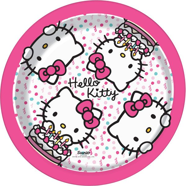 Hello Kitty Party Paper Plates