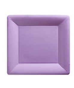 Lilac Square Paper Party Plates