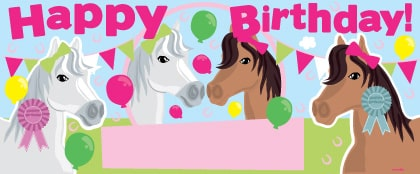 Horse Personalised Banner