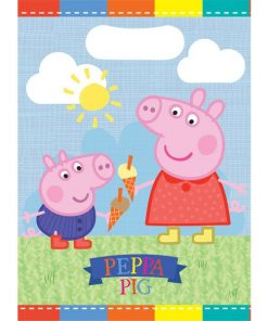 Peppa Pig Party Plastic Loot Bags