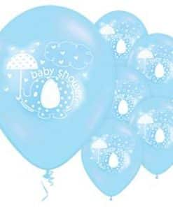 Umbrellaphants Blue Baby Shower Latex Balloons