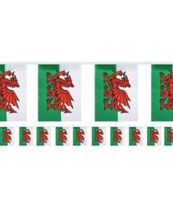 Welsh Flag Fabric Bunting