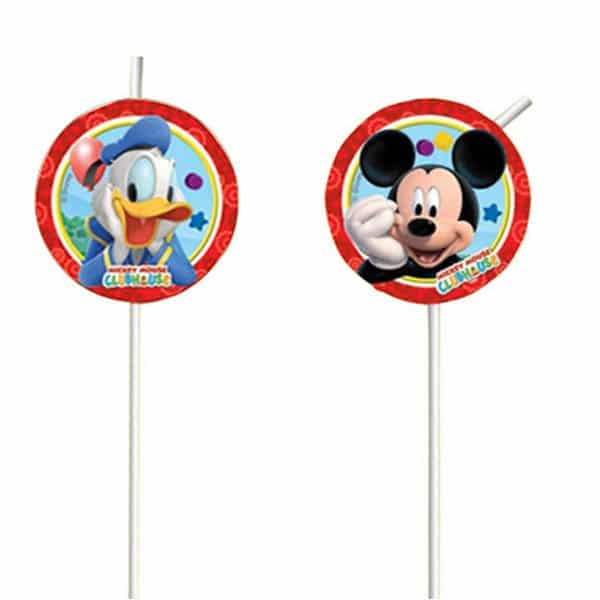 Mickey Mouse Party Drinking Straws