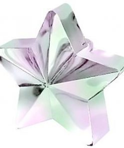 Iridescent Pink Star Balloon Weight