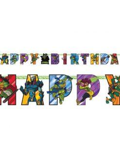 Rise of Teenage Mutant Ninja Turtles Birthday Banner