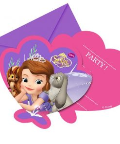 Sofia the First Party Invitation Cards