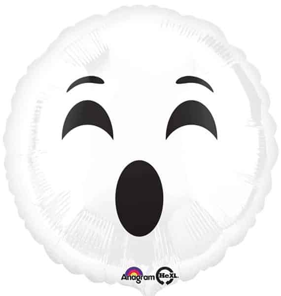 Buy Halloween Emoji Ghost Foil - Fun Party Supplies FREE UK delivery