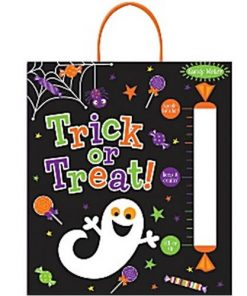Halloween Trick or Treat Tote Bag with Candy Meter