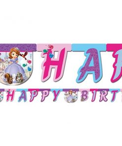 Sofia The First Party 'Happy Birthday' Die-Cut Banner