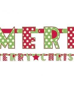 Merry Christmas Letter Banner
