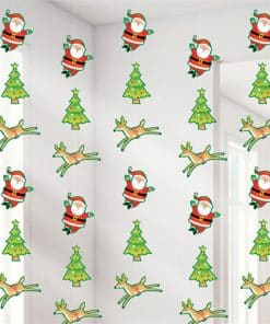 Reindeer & Santa String Decorations