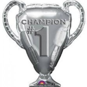 champion trophy cup foil balloon