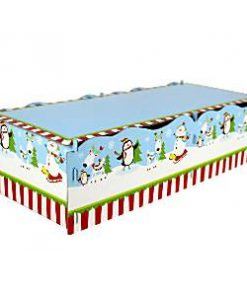 joyful-snowman-yule-log-cake-stand