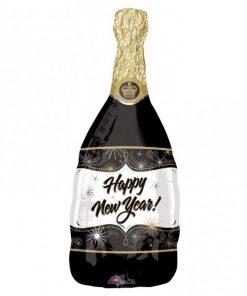 Happy New Year! Champagne Bottle Foil Balloon