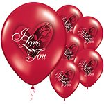 I Love You Rose Valentines Latex Balloons