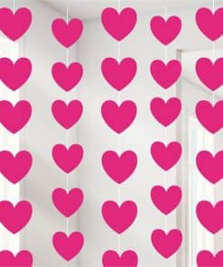Valentines Pink Heart String Decoration