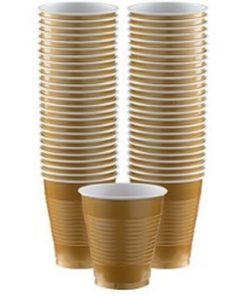 Gold Party Plastic Cups