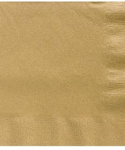 Gold Dinner Size Napkins
