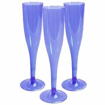 Blue Party Plastic Champagne Glasses