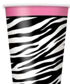 Zebra Passion Pink Party Paper Cups