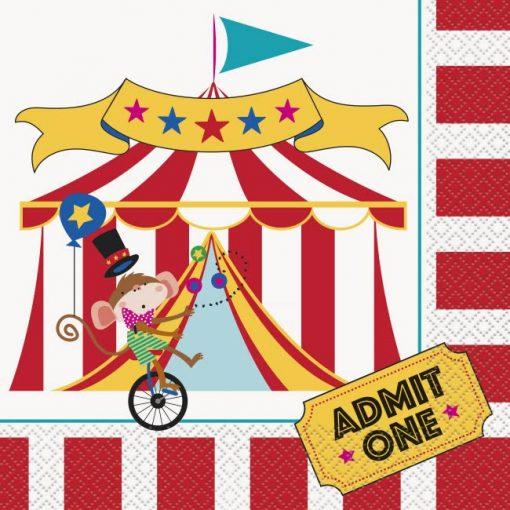 Circus Carnival Paper Napkins