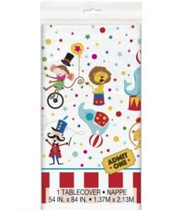 Circus Carnival Party Plastic Tablecover
