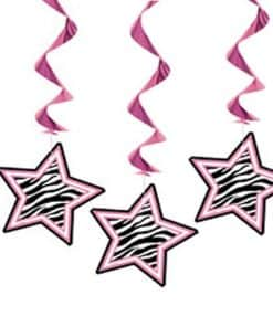 Zebra Passion Pink Party Hanging Decorations
