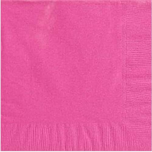 Hot Pink Party Paper Dinner Napkins