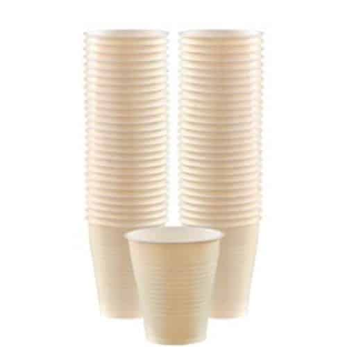 Ivory Plastic Party Cups