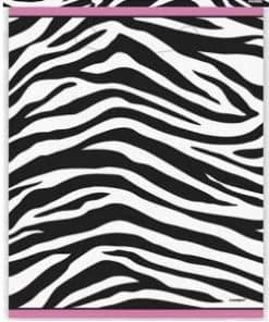 Zebra Passion Pink Party Plastic Loot Bags